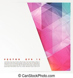 Vector background abstract polygon triangles. polygonal...