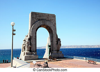 The Porte De L\'Orient in Marseille City, France