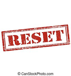 Reset-stamp - Grunge rubber stamp with text Reset,vector...