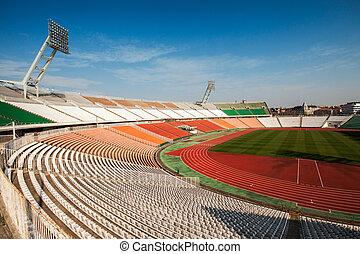 Football stadion - Old Puskas Ferenc football stadion in...