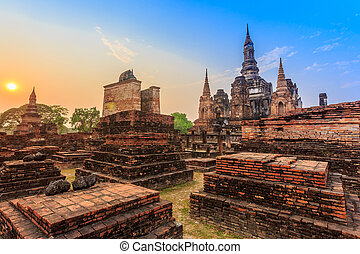 sukhothai historical park the old town of thailand