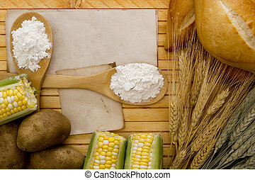 Flour and starch products out of which these ingredients.