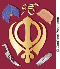 sikh holy symbol - a vector illustration in eps 10 format of...