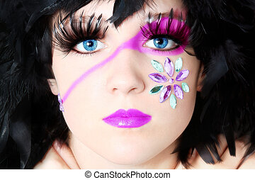 Artistic Cosmetics - Beautiful fourteen year old girl in...