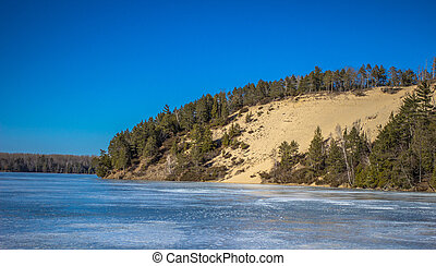 Huron National Forest - Scenic overlook along the Highbanks...