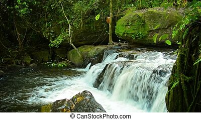 Picturesque Cambodian Waterfall - 1920x1080 video -...