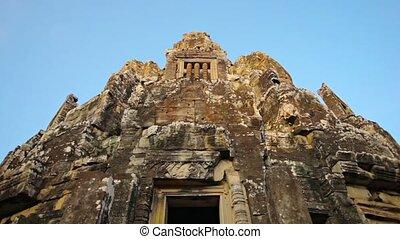 Entrance to Bayon Temple, Cambodia - 1920x1080 video -...