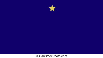 European Union flag with appearing stars - 4K video of...
