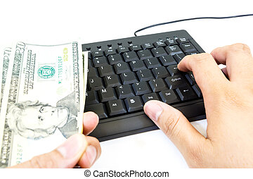 finance and banking with a calculator and money