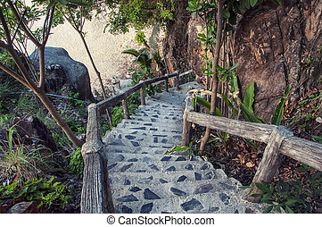 Steps to the beach - Steps to the very secure beach at thai...