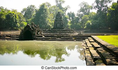 Ancient Historical Religious Monument in Siem Reap, Cambodia...