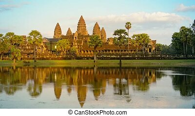 Angkor Wat Temple from across the Moat in Cambodia - Angkor...