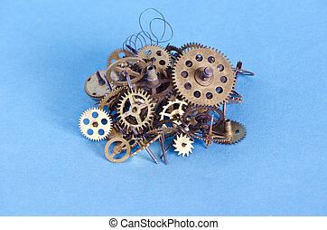 brass cooper bronze metal scrap clock mechanism gears for...