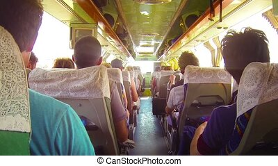 Bumpy Bus Ride in Southeast Asia - Video FullHD - Fully...