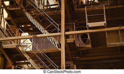 Abandoned Industrial Structure in Unique Perspective - Video...