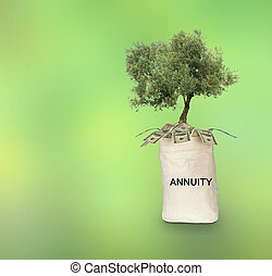 Bag with annuity
