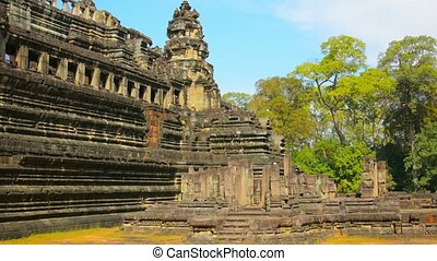 Ancient Stone Ruins at Angkor Wat in Cambodia - 1080p video...