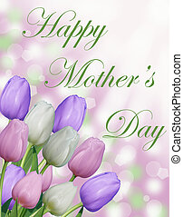 Happy Mother's day tulip card - Happy Mother's day text with...