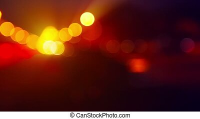 Bokeh Effect from Passing Cars at Night