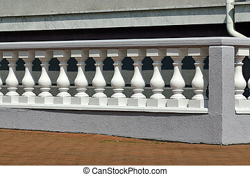 Balustrade - Beautiful white balustrade on the lakeside...