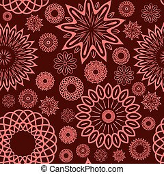 Floral seamless ornament.