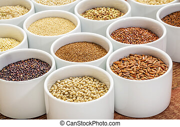healthy, gluten free grains abstract - healthy, gluten free...