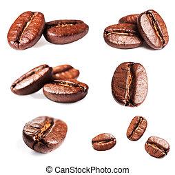 cobrança, de, assado, café, feijões,...
