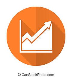 套間, 直方圖, 簽署, 橙, 圖象, 股票