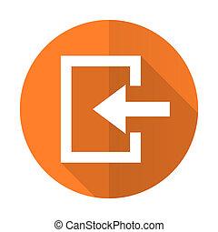 enter orange flat icon