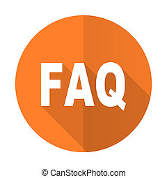 faq orange flat icon