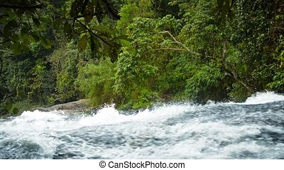 Video 1920x1080 - Mountain Stream Frothing and Splashing...