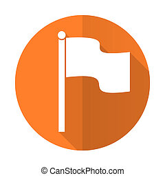 flag orange flat icon