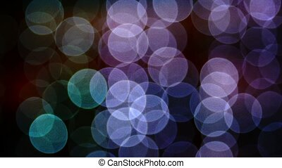 Strings of Bokeh Lights at Night - FullHD video - Colorful...