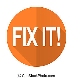 fix it orange flat icon