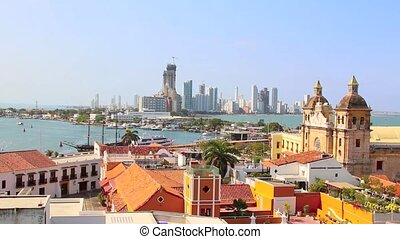 Historic center of Cartagena. COL