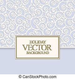 Vector blue card design for invitation, menu, anniversary or...