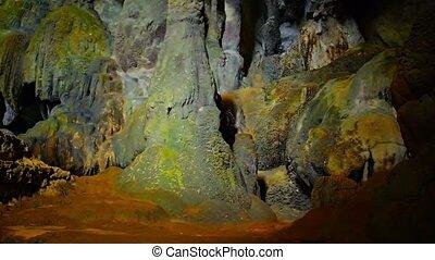 Tham Phu Kham Cave at Blue Lagoon in Vang Vieng, Laos -...