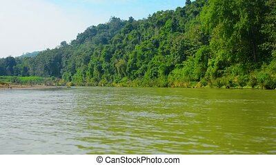 Timelapse Video of a Boatride in Luang Prabang Laos - Video...