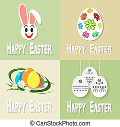 Happy easter cards illustration