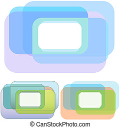 Rounded Rectangle Overlap Copyspace Set - A set of 3 Rounded...