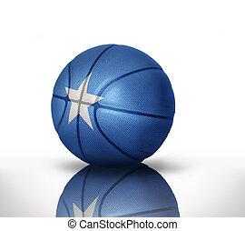 somalia basketball - basketball ball with the national flag...