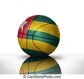 togo basketball - basketball ball with the national flag of...