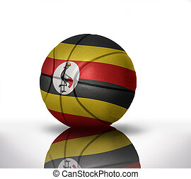 ugandan basketball - basketball ball with the national flag...