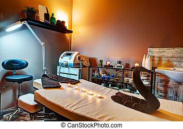 Beauty salon and massage interior. Relaxing, zen design -...