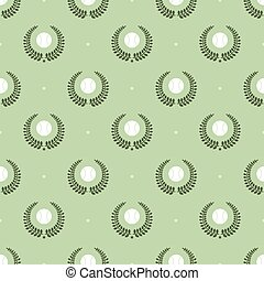 tennis balls pattern - Seamless pattern with tennis balls...