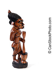 Gambian wood carving. - Statues made from wood by Gambian...