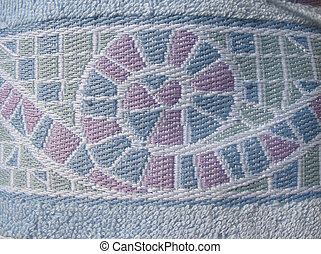 The texture of terry cloth