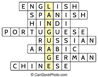 Crossword puzzle for Language - Crossword puzzle for the...
