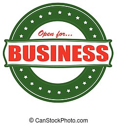 Open for business - Stamp with text open for business...