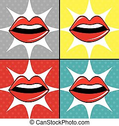 Pop art design - Comic pop art colorful design, vector...